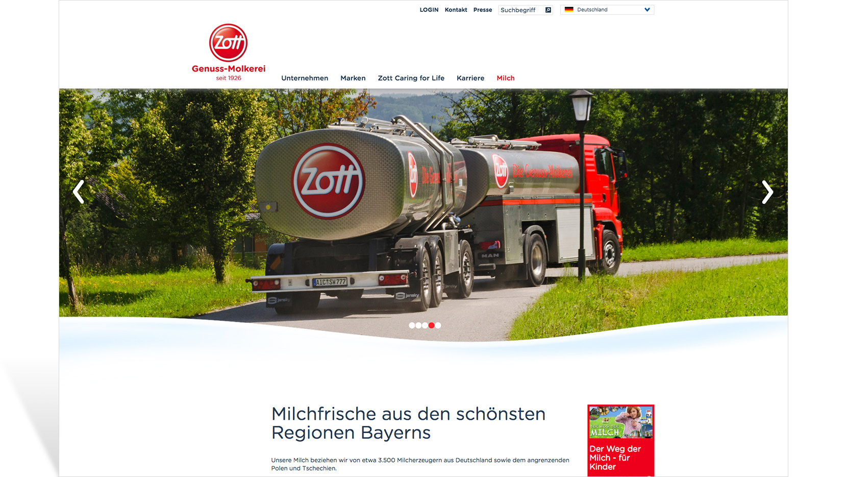 Zott Corporate Website